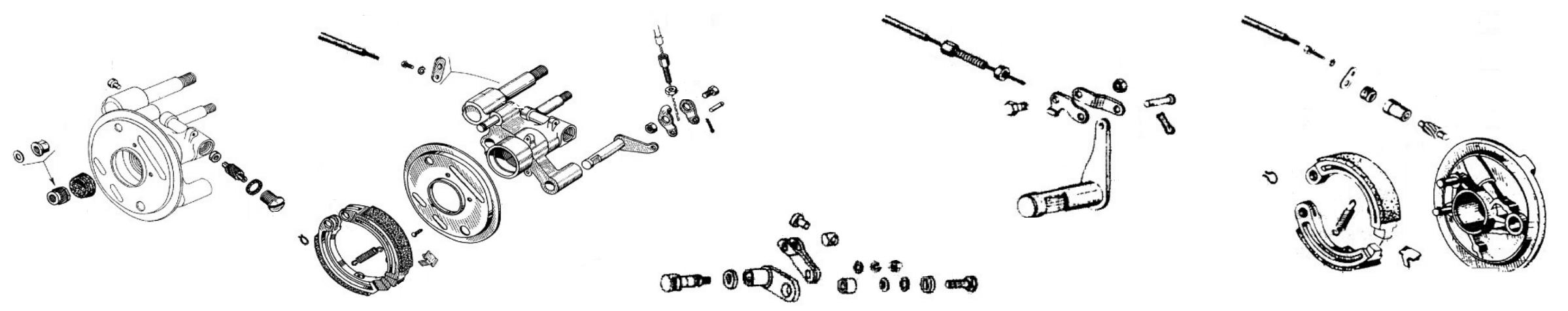 Freno anteriore e ingranaggio contachilometri