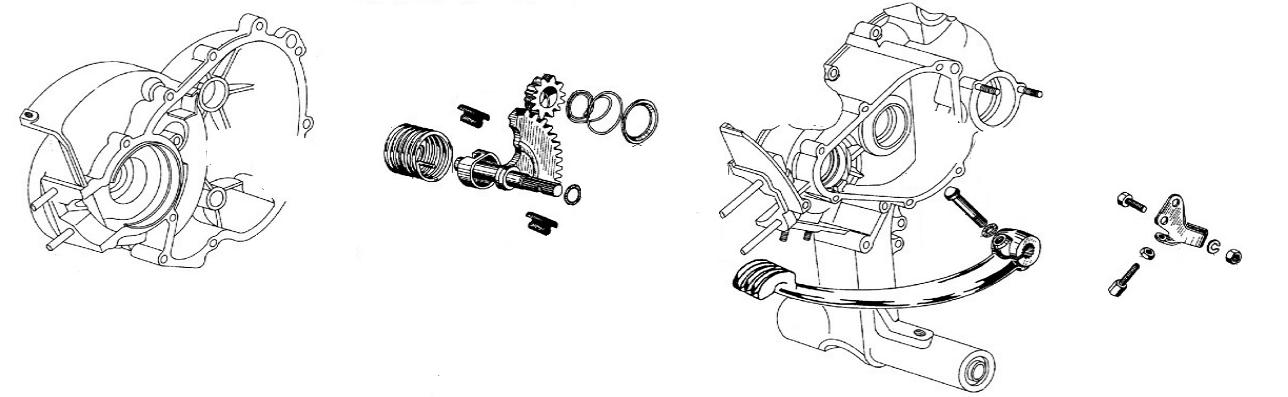 Ingranaggi e pedalina avviamento