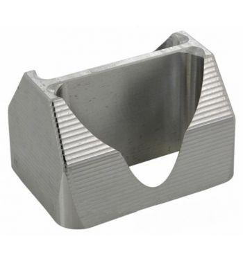 Guida flussi MRP per pacco lamellare RD350 Øi 34x30mm alluminio, fresato CNC.
