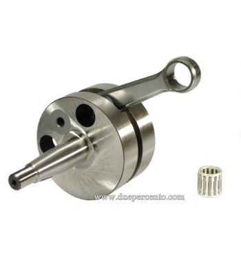 Albero motore QUATTRINI 8348 spalle piene, cono 20mm, biella 102mm, corsa 51mm per carter QUATTRINI C1 per Vespa 50/ 50 Special/ ET3/ Primavera/ PK50-125