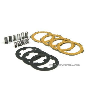 Dischi frizione NEWFREN RACE  per frizione 6 molle, 4 dischi sinterizzati, 3 infradischi, 12 molle rinforzate per Vespa PK50/ S/ SS/ XL/ XL2/ FL/ HP/ N/ Rush/Ape