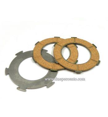 Dischi frizione SURFLEX per frizione 6 molle, 3 dischi sughero, per Vespa PX125-150/ GTR/ TS/ Sprint/ GL/ VNB/ VBA/ LML125-150