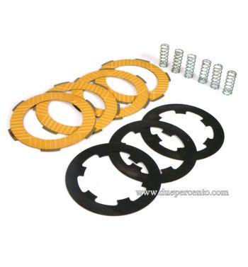 Dischi frizione POLINI RACE per frizione 6 molle, 4 dischi sinterizzati, 3 infradischi per Vespa PK50/ S/ SS/ XL/ XL2/ FL/ HP/ N/ Rush/ Ape