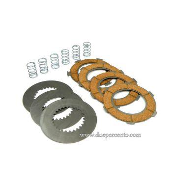 Dischi frizione DR RACE per frizione 6 molle, 4 dischi sughero, 3 infradischi, 6 molle rinforzate per Vespa PX125-150/ GTR/ TS/ Sprint/ GL/ VNB/ VBA/ LML125-150