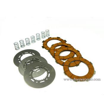 Dischi frizione DR RACE per frizione 7 molle, 3 dischi sughero, 2 infradischi, 7  molle rinforzate per Vespa PX200/ P200E/ Lusso/ Cosa200/ LML/Rally200/ 160GS/ 180SS