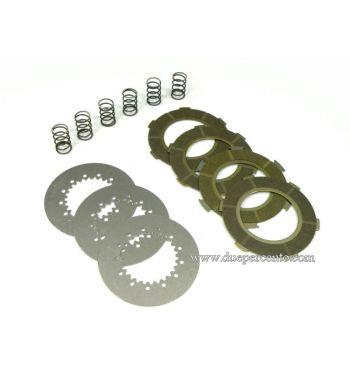Dischi frizione SIP RACE per frizione 6 molle, 4 dischi sinterizzati, 3 infradischi, 6 molle rinforzate per Vespa PX125-150/ GTR/ TS/ Sprint/ GL/ VNB/ VBA/ LML125-150