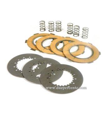 Dischi frizione POLINI RACE per frizioni 6 molle, 4 dischi sughero, 3 infradischi per Vespa PX125-150/ GTR/ TS/ Sprint/ GL/ VNB/ VBA/ LML125-150