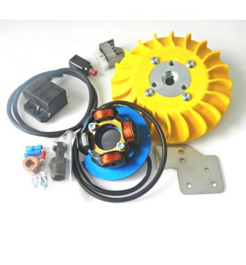 Accensione elettronica PARMAKIT cono 20mm, 1Kg, volano IDM, ventola gialla, per Vespa PK 50-125/ S/ XL/ XL2/ FL/ HP/ N/ Rush
