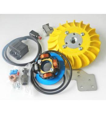 Accensione elettronica PARMAKIT cono 19mm, 1Kg, volano IDM, ventola gialla, per Vespa 50/ 50 Special/ ET3/ Primavera/ PK50-125