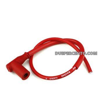 Pipetta + cavo candela TNT TUNING - rosso per Vespa 50/ 50 special/ ET3/ PX125-200/ P200E/ Rally 180-200/ T5/ GTR/ TS/ Sprint