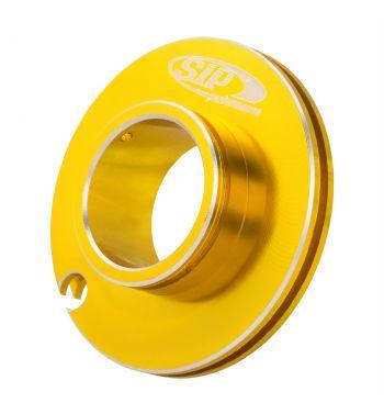 Puleggia corsa corta comando gas SIP ø50mm, oro anodizzato, CNC, per Vespa PK50-125/ ETS/ Rush/ PX125-200/ P200E/ Lusso/ '98/ MY/ '11/ T5