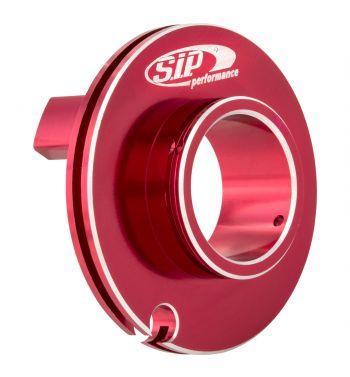 Puleggia corsa corta comando gas SIP ø50mm, rosso anodizzato, CNC, per Vespa PK50-125/ ETS/ Rush/ PX125-200/ P200E/ Lusso/ '98/ MY/ '11/ T5
