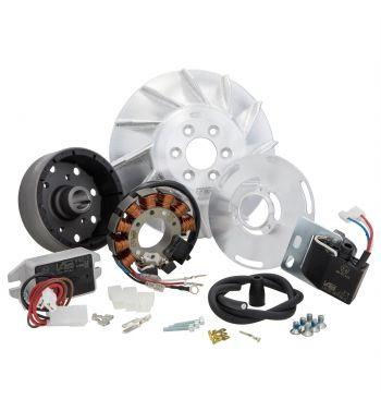 Accensione elettronica SIP PERFORMANCE ROAD 1,66Kg, DC, anticipo fisso per Vespa PX125-200/ P200E/ 125 GTR/ TS/ 150 Sprint Veloce/ 200 Rally