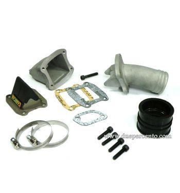 Collettore aspirazione lamellare al carter 2 fori FALC 30-35mm per Vespa 50/ 50 Special/ ET3/ Primavera