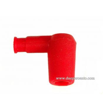 Pipetta candela rossa siliconata per Vespa 50/ 50 special/ ET3/ PX125-200/ P200E/ Rally 180-200/ T5/ GTR/ TS/ Sprint