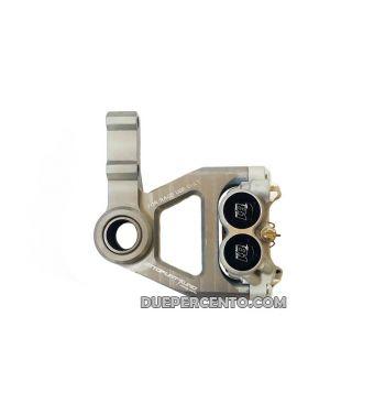 Kit supporto pinza e pinza OTTOPUNTOUNO freno anteriore colore titanio - per forcella PIAGGIO ZIP SP, e per Vespa ET2/ET4/LX