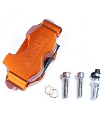 Pinza freno radiale, 4 pistoncini, colore arancio ADELIN interasse fori 82mm