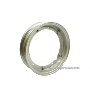 Cerchio in acciaio F.A. ITALIA 2.10-10 scomponibile verniciato grigio per Vespa 50/ 50 special/ ET3/ PX125-200/ P200E/ Rally 180-200/ T5/ GTR/ TS/ Sprint