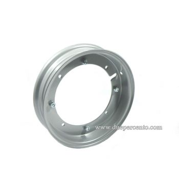 """Cerchio in acciaio FA ITALIA 2.10-10 scomponibile verniciato grigio metallizzato per conversione da 9"""" a 10"""" Vespa 50 Special 3 marce"""