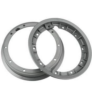 """Cerchio in lega tubeless scomponibile FA ITALIA """"RUSH"""" 2.10-10 grigio metallizato per Vespa 50/ 50 special/ ET3/ PX125-200/ P200E/ Rally 180-200/ T5/ GTR/ TS/ Sprint"""