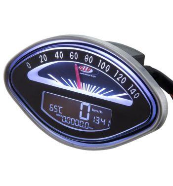 Contachilometri e contagiri SIP Vespa 125GT, 150VBA-VBB-GL-GS-Sprint, 160GS, 180 SS - fondo nero