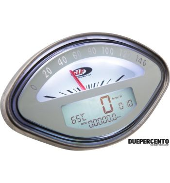 Contachilometri e contagiri SIP Vespa 125GT, 150VBA-VBB-GL-GS-Sprint, 160GS, 180 SS - fondo bianco