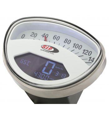 Contachilometri e contagiri SIP Vespa SS50, SS90, ET3 Primavera, Super, SprintV, GTR, TS, Rally - fondo bianco