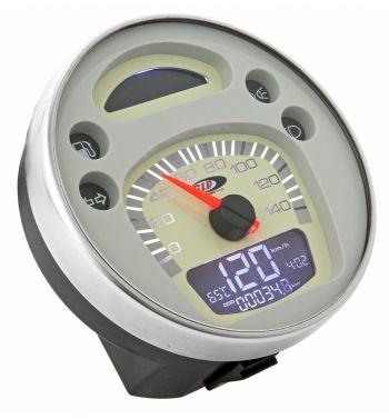 Contachilometri e contagiri SIP Vespa PX 125-150-200 Arcobaleno, '98, MY - fondo bianco