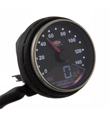Contachilometri e contagiri SIP 2.0 per Vespa PK 50-125/ S/ Automatica, 14.000rpm, colore quadrante: nero