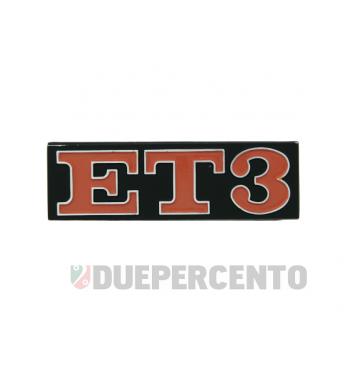 "Targhetta posteriore ""ET3"", per Vespa 125 ET3"