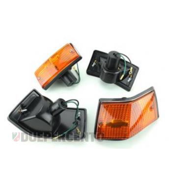 Kit frecce anteriore e posteriore, vetro arancione, per Vespa PX125-150/ P200E/ T5