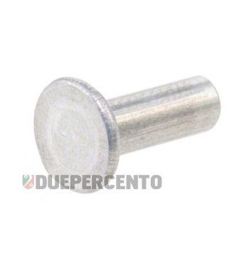 Rivetto 3,5x10 mm, testa piana, per listelli pedana, per Vespa 50 L/S/Special/PV/ET3/125VNB2T-TS/150 VBB1T-Super/160GS/180 SS/Rally/P125150 1°/P200E 1°
