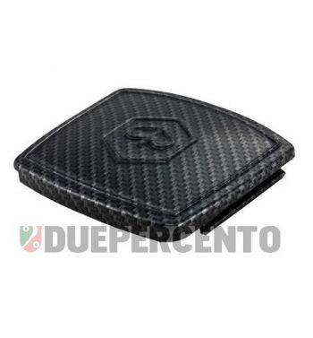 """Coperchio """"Carbon look"""" chiusura foro contachilometri Vespa 50 Special/ Elestart"""