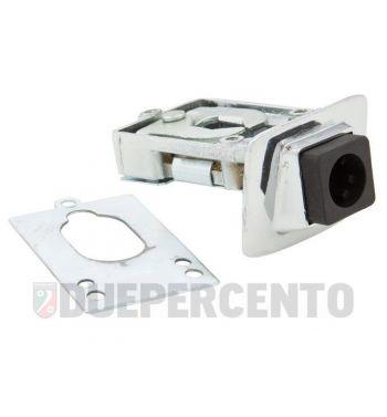 Serratura sella cromata PIAGGIO per Vespa PX125-200/ PE/ Lusso/ '98/ MY/ T5