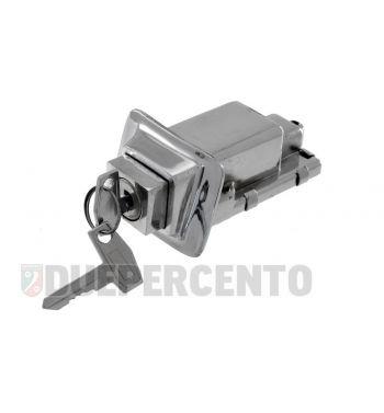 Serratura sella cromata ZADI per Vespa PX125-200/ PE/ Lusso/ '98/ MY/ T5