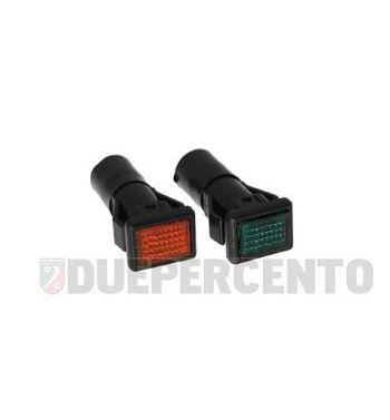Spia luce arancione e verde manubrio per Vespa P125-150X/ PX125-200E/ Lusso 1°/ P150S/ P200E