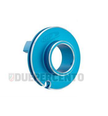 Puleggia corsa corta comando gas SIP ø50mm, blu opaco, CNC, per Vespa PK50-125/ ETS/ Rush/ PX125-200/ P200E/ Lusso/ '98/ MY/ '11/ T5