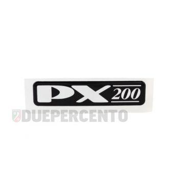 """Targhetta """"PX200"""", adesiva, per cofano Vespa PX200 E '98/ Millenium"""