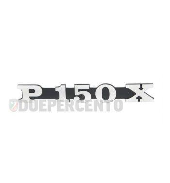 """Targhetta """"P150X"""", per cofano per Vespa P150X"""