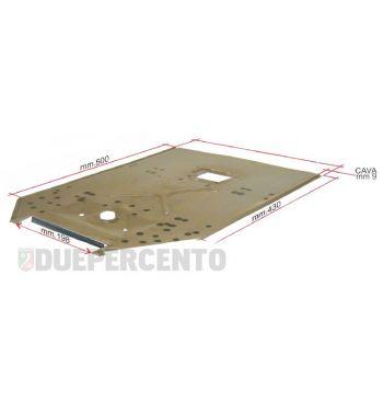 Pedana in lamiera CIF, l=600 mm - l=420 mm, completa di rinforzi per Vespa 50/ 50 Special/ ET3/ Primavera