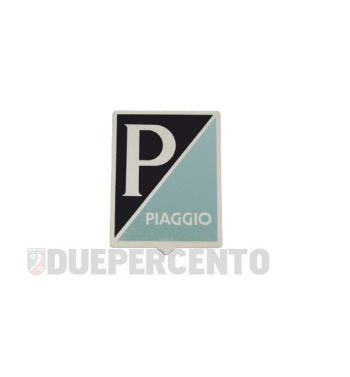 """Stemma quadro """"PIAGGIO"""", 36x46 mm in alluminio adesivo per Vespa 125 GT/ Sprint/ Super/ 150 VBA/ VBB/ GL/ GS VS5/ Sprint/ 160 GS/ 180SS"""