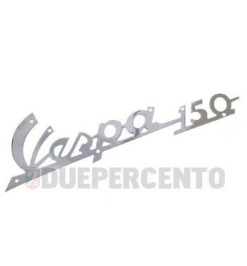 """Targhetta """"Vespa 150"""" satinata per scudo anteriore Vespa 150 VBA/ VBB/ VGLA-B"""