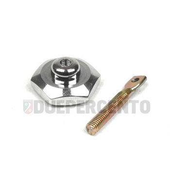 Pomello tappo serbatoio cromato per Vespa 50/50 special/ PV/ ET3/ PK/ VNA/TS/ GT/ Sprint/ Rally/ SS180/ PX125-200