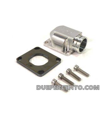 Collettore CNC, MRP da 38mm per porta pacco MRP RD350 per Vespa PX125-200 / P200E / 180-200 Rally/ Cosa/ Sprint/ GTR / T5