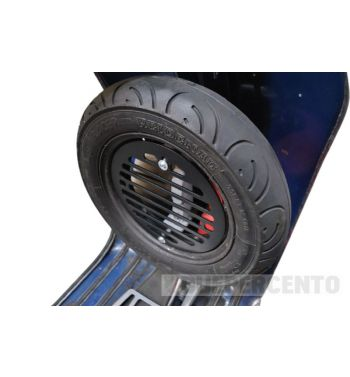 Porta flaconi - tanica, MRP nero, per ruota di scorta Vespa 50/ 50special/ Primavera/ GT/ GL/ Sprint/ VBA