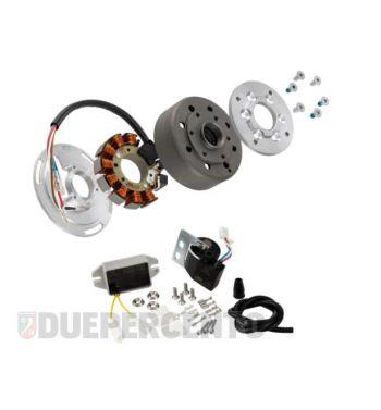 Accensione elettronica SIP PERFORMANCE SPORT, per Vespa 125 VN2/ 150 VL/ VB/ ACMA, volano ca.: 1250g in acciaio, 9 bobine, 12 magneti, 12V, AC 110 watt, anticipo fisso