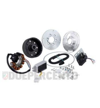 Accensione elettronica SIP PERFORMANCE SPORT, per Vespa 125/ V15-33/ VM/ VN1, volano ca.: 1250g in acciaio, 9 bobine, 12 magneti, 12V, AC 110 watt, anticipo fisso