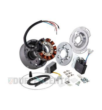 Accensione elettronica SIP PERFORMANCE ROAD, per Vespa 150 GS, volano ca.: 1250g in alluminio CNC, 9 bobine, 12 magneti, 12V, AC 110 watt, anticipo fisso