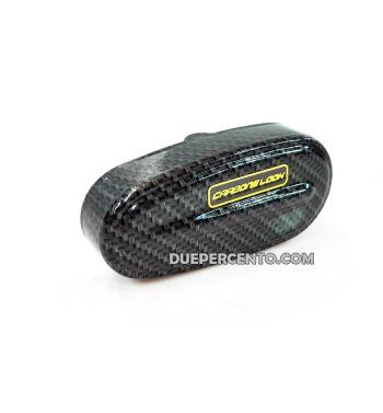 Coperchio mozzo in alluminio/carbon look per Vespa 50/ 50 Special/ ET3/ Primavera/ PK