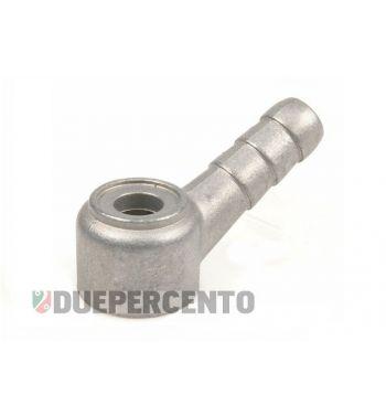 Raccordo tubo benzina DELL'ORTO per carburatore SI, per PX125-200/ P200E/ Rally180-200/ GTR/ TS/ Sprint/ GL/ VBB/ VNB